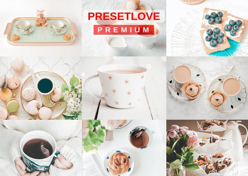 High Tea Premium Pastel Food Preset by PresetLove