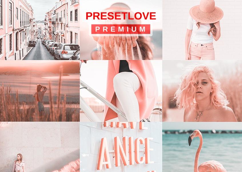 Rosette - Premium Pink Lightroom Preset Collage