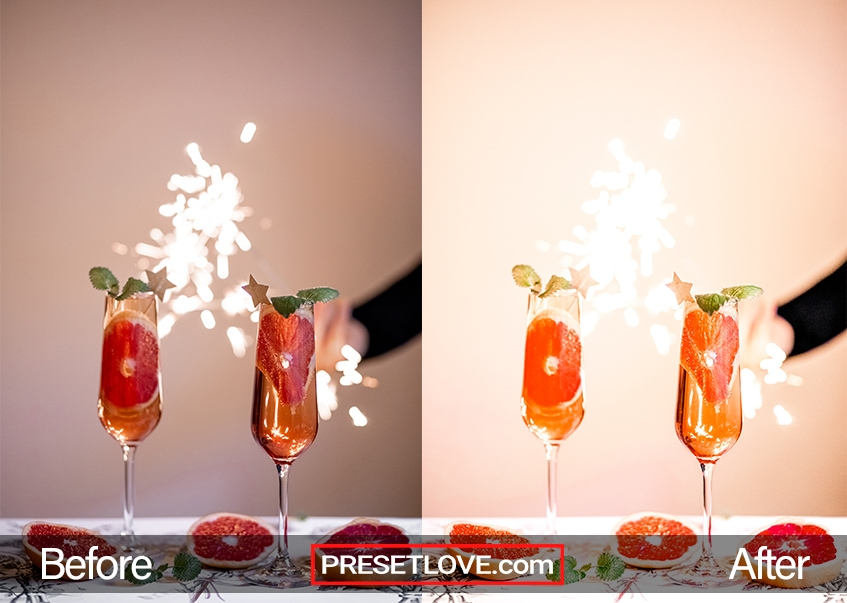 A vibrant and colorful photo of fruit drinks in a tall glass