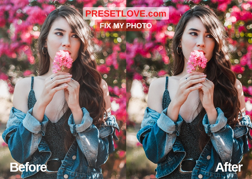 Fix the photo's tonal contrast using Fix my Photo Preset by Preset Love