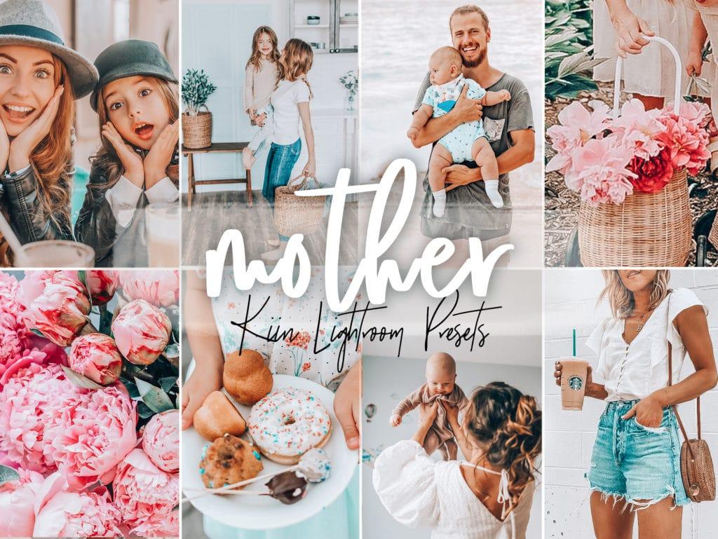 5 Mother Lightroom Presets - family, newborn, portrait, indoor, home presets by KIIN