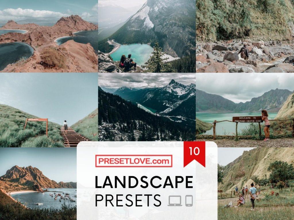 Premium Landscape Presets by PresetLove