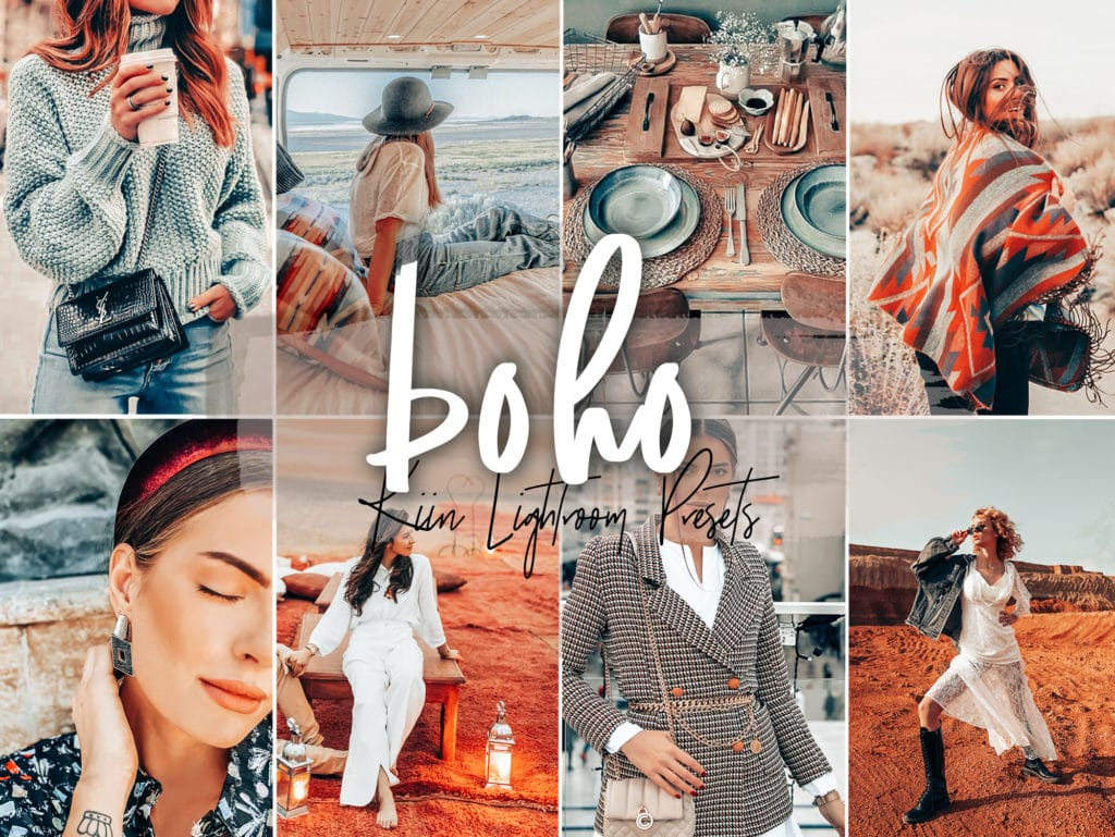 Boho Instagram Lightroom presets by KIIN