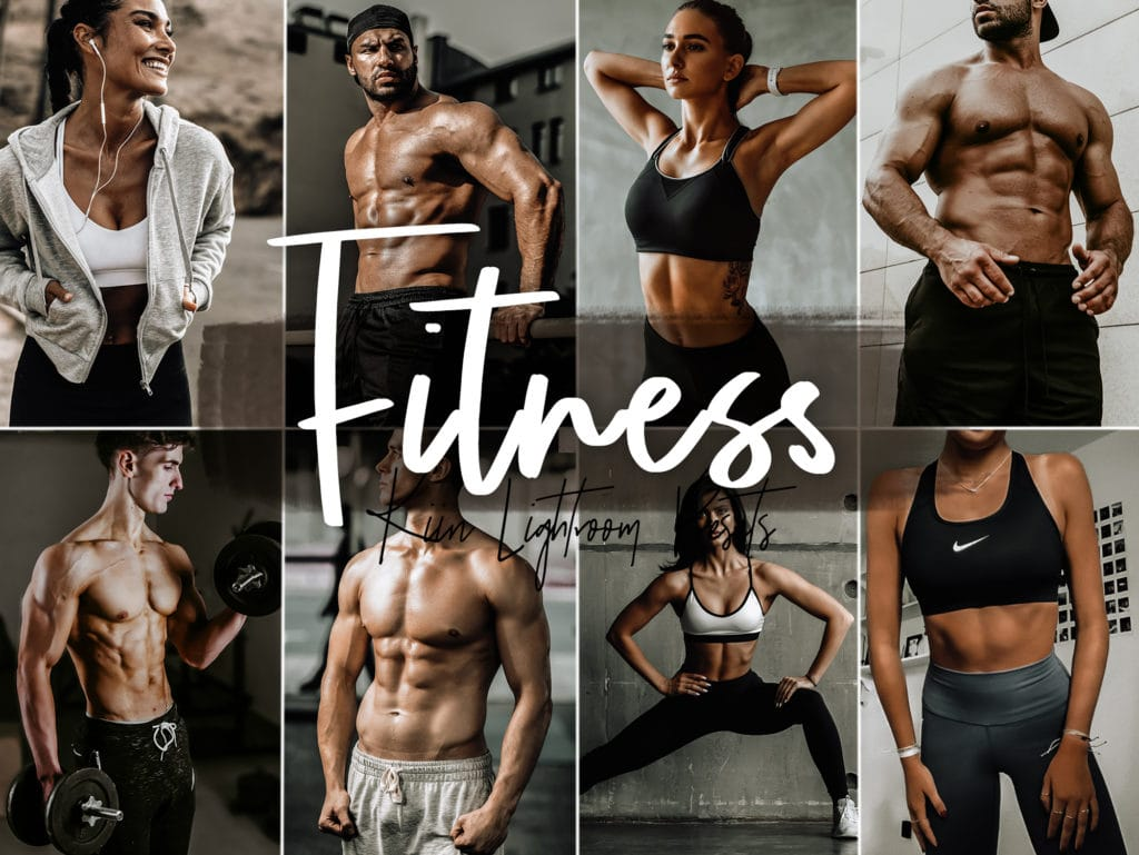 Fitness Lightroom Presets for Mobile and Desktop - Dark and Moody - Modern - Urban - KIIN