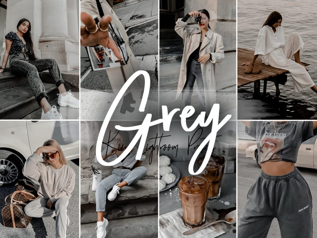 Grey Minimal Blogger Presets for Lightroom mobile and desktop by KIIN