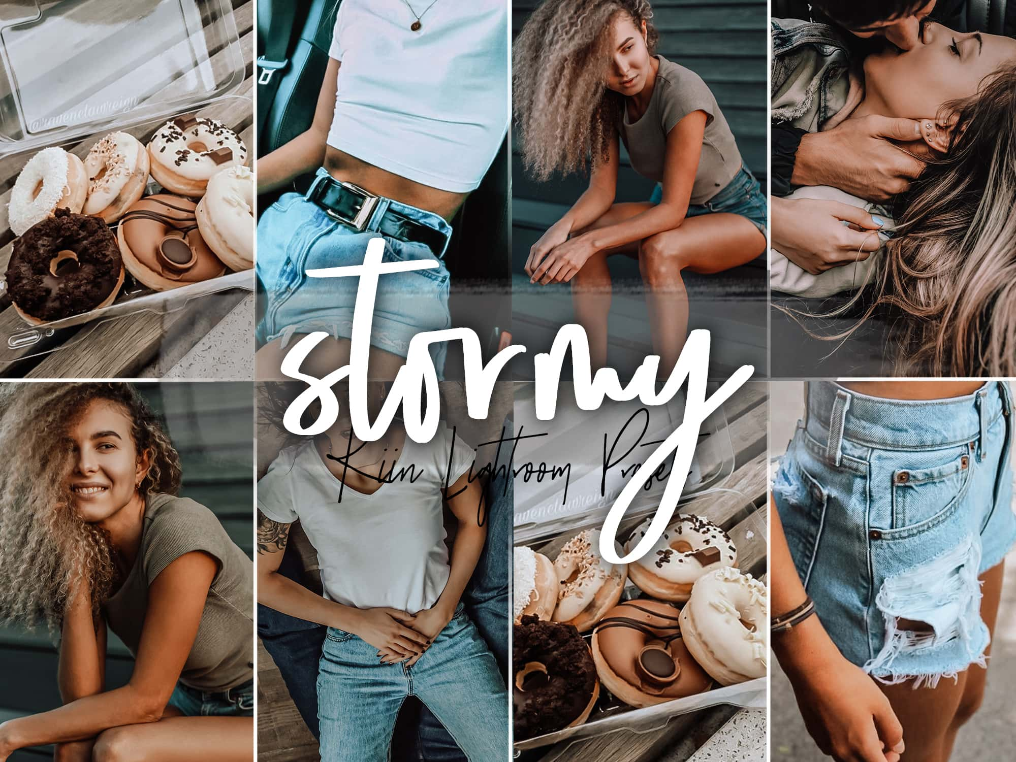 Modern Urban Stormy presets with a bold and moody aesthetic by KIIN Presets