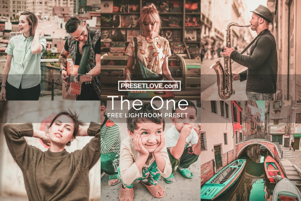The One Preset Collage - Brown and Teal - Orange -PresetLove