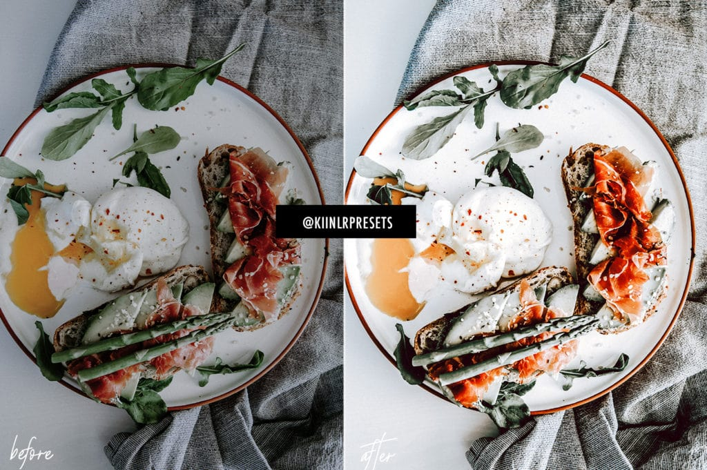 Airy and Bright KIIN Preset for Food Photography