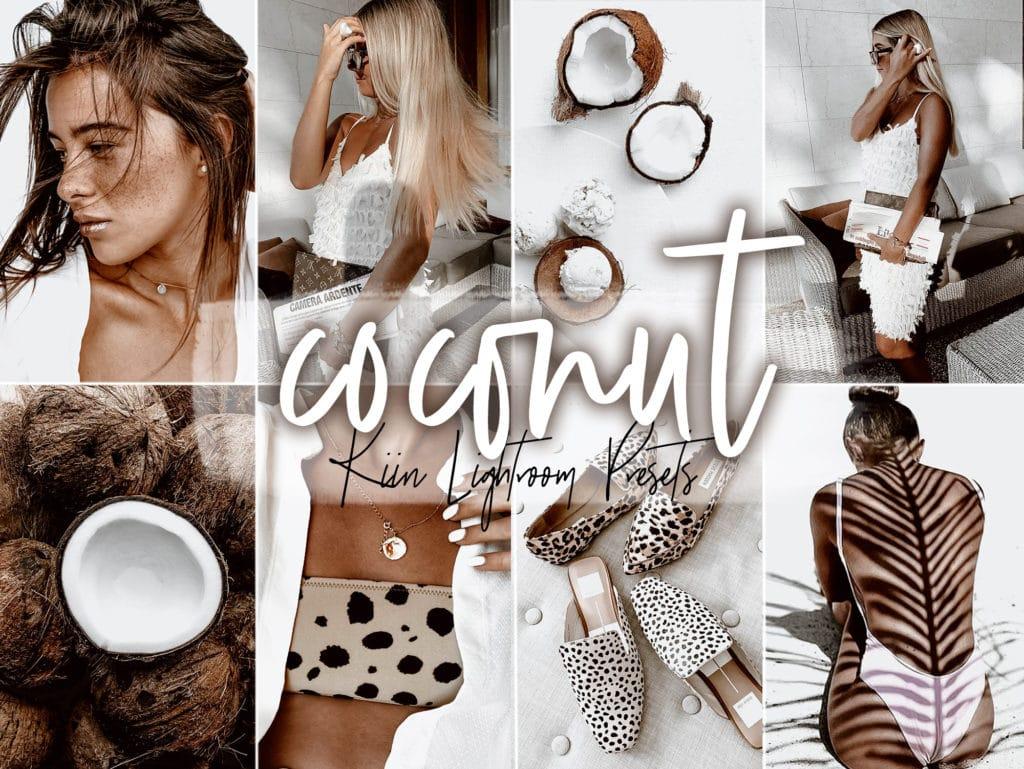 Coconut White Lightroom Presets for Mobile and Desktop by KIIN Lightroom Presets