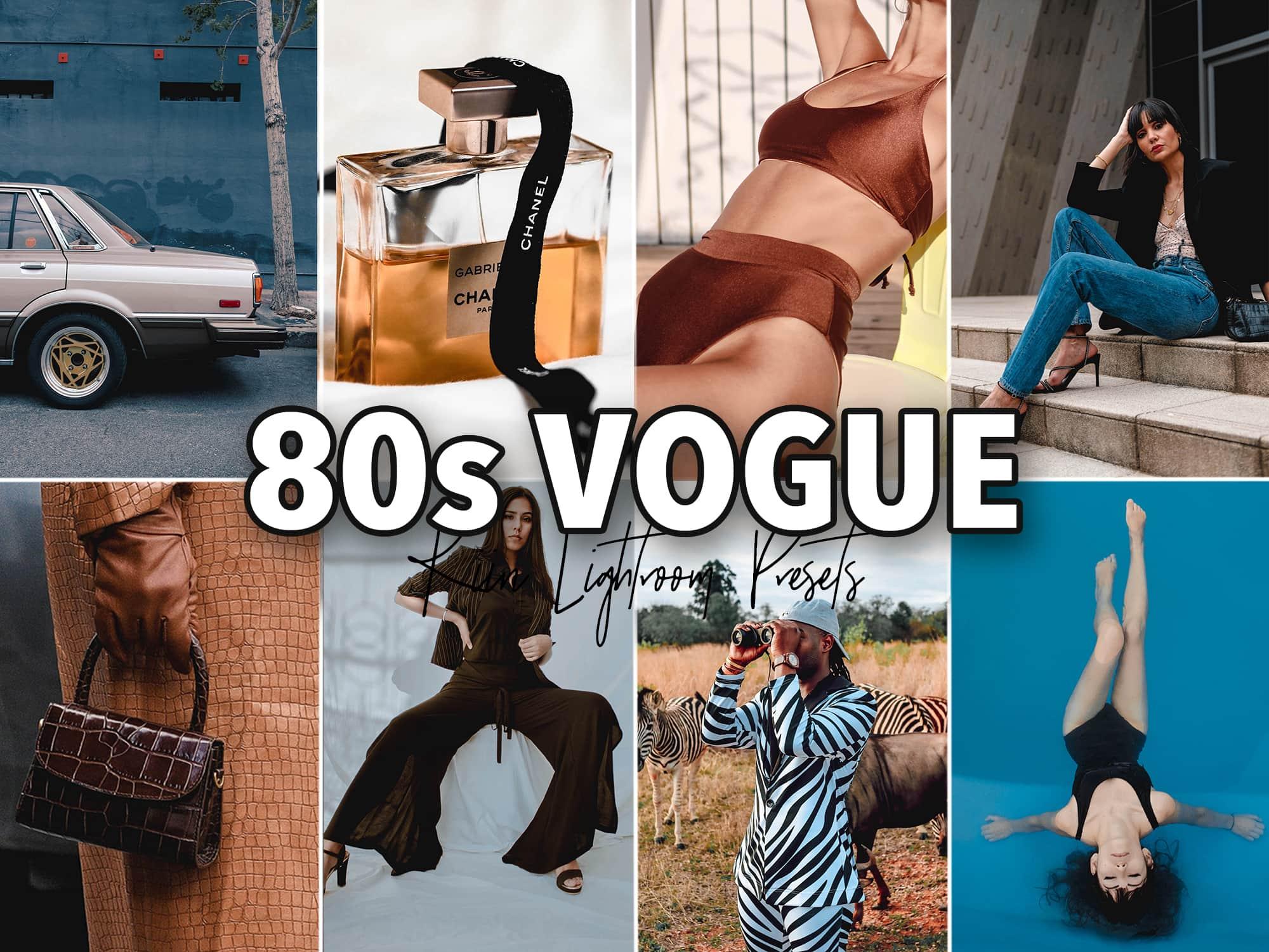 80's Vogue Retro Fashion Lightroom Preset by KIIN