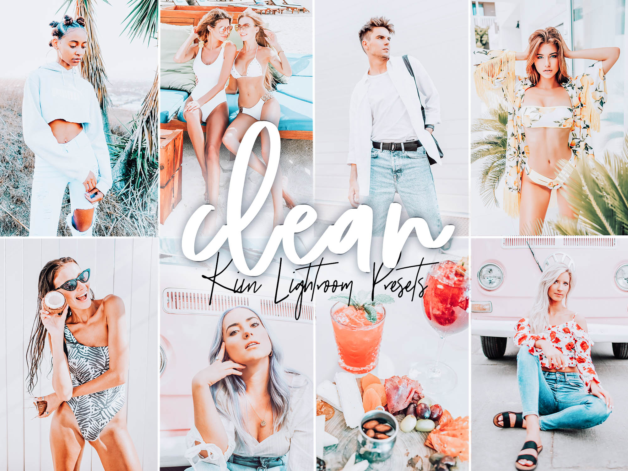 Clean modern presets for bright and airy aesthetic by KIIN Lightroom presets