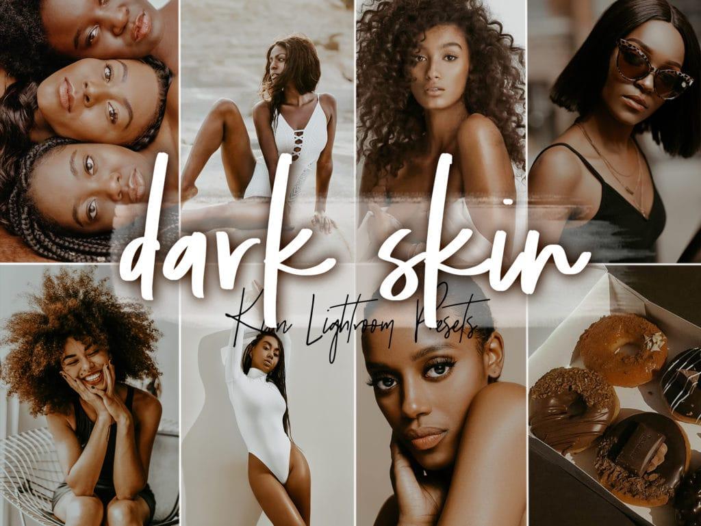 Dark Skin Lightroom Presets by KIIN